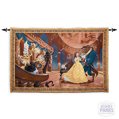 Disney Parks Beauty and the Beast Tapestry Wall Hanging Belle