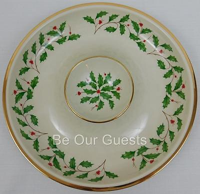 Lenox Holiday Chip and Dip Server Dish Bowl New Opened Box 12 inch