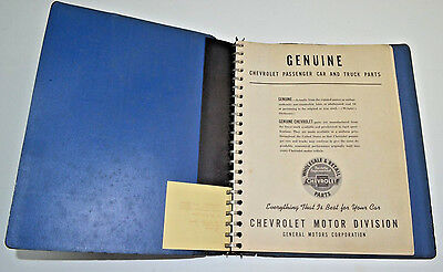 Vintage Chevrolet product data book Genuine Parts 19329-1946 Chevy Car Truck