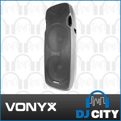 "Vonyx AP215ABT Dual 15"" DJ Speaker 1200W 2x15"" Powered PA  w/ Bluetooth & MP3"