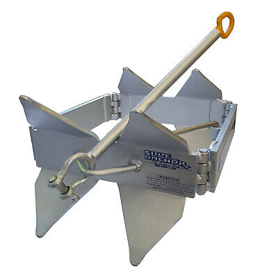 Slide SMALL Box Anchor Stainless Galvanized FOLDABLE ANCHOR WEIGHT 9.2kg