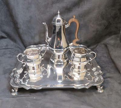 Fine Antique Sterling Silver Demitasse 4 pc Coffee or Tea Set