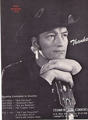 1970's Stompin' Tom Connors Record Album Collection Trade Print Advertisement