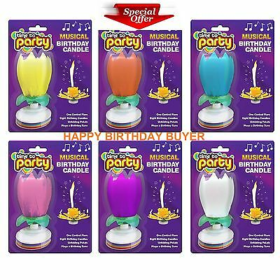 Amazing Musical Rotating Lotus Flower  Birthday Candle Party Sprklining Fountain