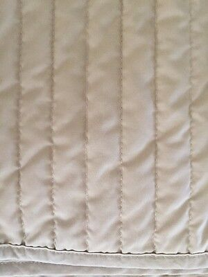 Sheridan Bed Skirt Quilted Supercale 100% Cotton King Beige Natural AS NEW!