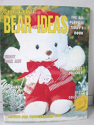 CREATIVE BEAR IDEAS ALL PURPOSE TEDDY'S  BOOK techniques patterns clothes tips