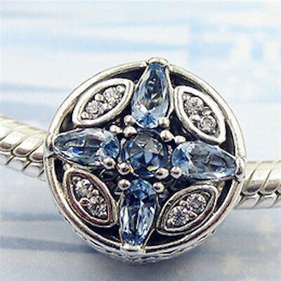 FROST SPARKLE 925 Sterling Silver Solid Charm bead for Bracelet