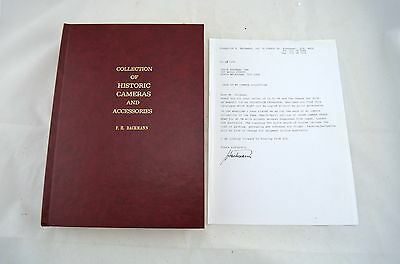 V RARE 'Collection Of Historic Cameras And Accessories' Book - By F. H. Bachmann
