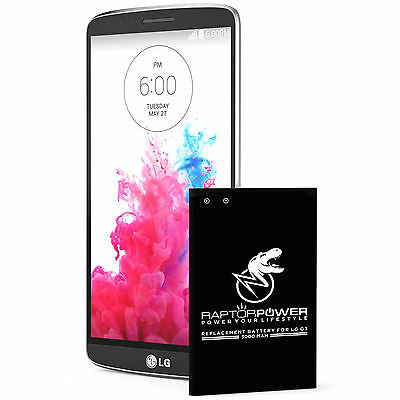RaptorPower Replacement Battery for LG G3 BL-53YH D850 D852 D855 VS985 3000mAh