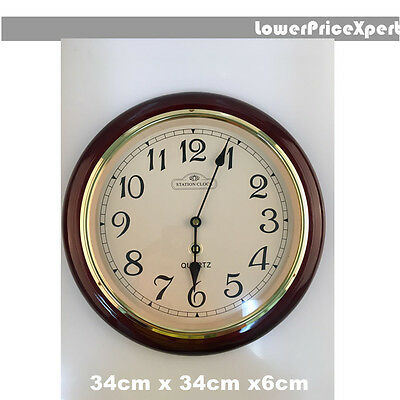 New analog quartz wooden Wall clock  home decoration office display
