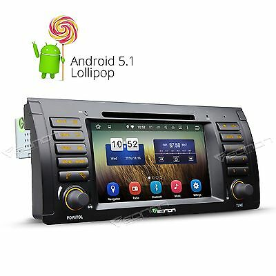 1024x600 HD Screen Android Car GPS 5.1 Car DVD Player for BMW X5 E53 BT/3G/SD A