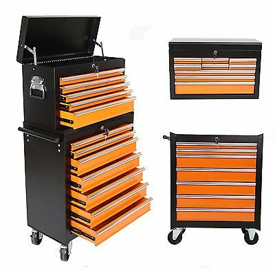 New Portable 16 Drawers Tool Cart Top Chest Box Rolling Toolbox Cabinets Storage