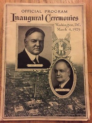 March 4, 1929 President Herbert Hoover Inaugural Ceremonies Official Program