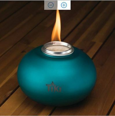 TIKI Clean Burn Flame, Tabletop Fireplace Garden Patio Outdoor Torch Lamplight