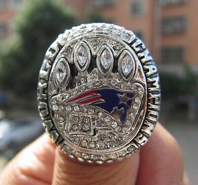 High Quality 2014 New England Patriots Championship Ring KRAFT Solid Fan Gift