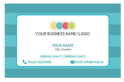 Personalised Logo Business Cards Custom Your Company Visiting Card-Front