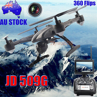JXD 509G 4CH 6-Axis Realtime FPV Quadcopter RC Drone w/ 2.0MP HD Camera New