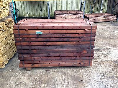 3 X 3 Brown Treated Tanalised Timber Fence Posts