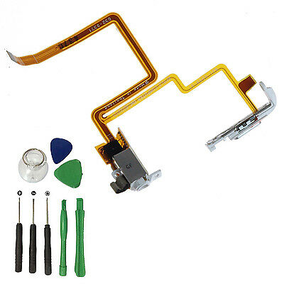 For iPod Classic 7th 160GB White Audio Headphone Jack Flex Cable Hold Switch