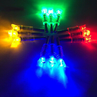 Automatically LED Lighted Arrow Nocks Tail for Crossbow Arrows Fittings 3 Pcs