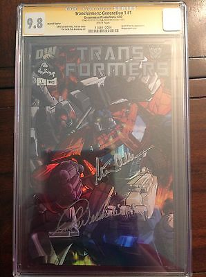 CGC SS 9.8 Transformers Generation 1 #1 variant signed By Welker & Cullen