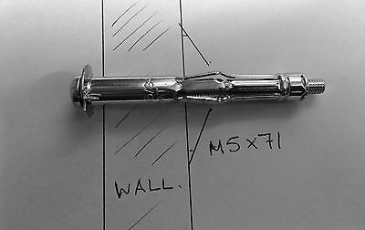 M5 X 71 Molly Plasterboard Cavity Anchors Hollow Metal Wall Fixings DIY Qty 4