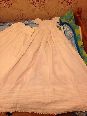 Regency child's christening gown white heirloom collectible