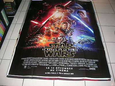 "Affiche Cinema 120X160 ""star Wars ,le Reveil De La Force"""""