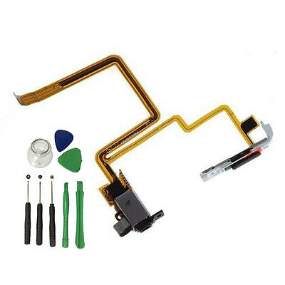Headphone Audio Jack Hold Switch Flex Cable For iPod Classic 7th 160GB Black