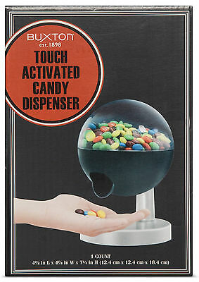 *** BRAND NEW *** Buxton Touch Activated Candy Dispenser - Black w/ Silver Base