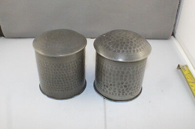 2 Vintage Selangor Pewter Cigarette Tobacco Containers with Player Navy Cut Tins