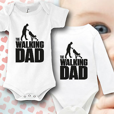 Babybody Baby Strampler Druck The Walking Dad Geschenk idee lustig