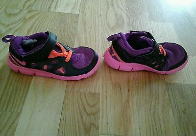 Pink Nike trainers Girls Size UK 8.5 next day