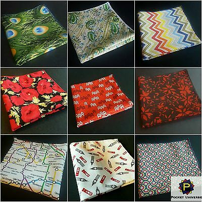 Various Pocket Square Pattern Themed Handkerchief Hankie Pocket Universe
