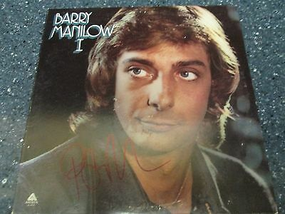 """Barry Manilow signed 12"""" LP"""