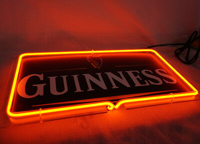 """Brand New Guinness Beer 3D Real Neon Light Sign 12""""x7"""" [High Quality]"""