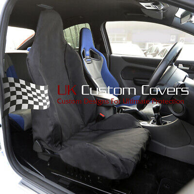 FORD FOCUS RS RECARO TAILORED SINGLE SEAT COVER IN BLACK 2011 On - 248