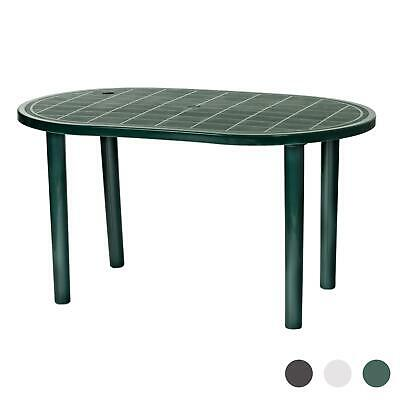 Resol Gala Outdoor Garden Strong Plastic Oval Dining Patio Table - Green