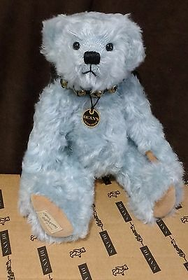 Deans Blue Mohair Teddy  Bear - Bluebells - 213 Of 1000 - New With Tags In Box