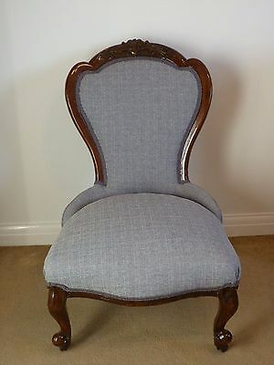 A Victorian upholstered Ladies' chair