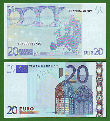 Greece 20 Euro 2002 Trichet Signature Y03208630789 Printer N006F3 UNC (001)