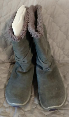 VGUC Skechers Charcoal Gray Synergy Solid Boot SZ 9 1/2