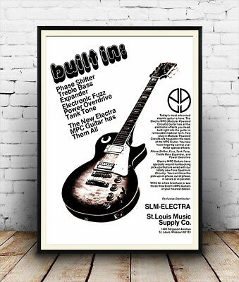 CR13 Vintage Style Red Keep Calm Play Guitar Music Funny Poster Print A2//A3//A4