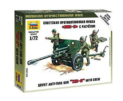 "Zvezda - Soviet anti-tank gun ""ZIS-3"" with crew  - 1:72"