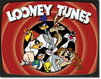 Looney Tunes Cartoon Bugsy Road Daffy Taz Porky Sylvester Picture Poster Gift