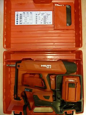 Hilti BX 3   BATTERY ACTUATED FASTENING TOOL  battery charger and carry case