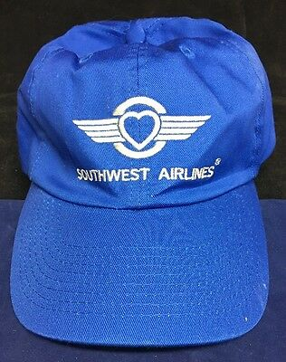 Southwest Airlines Blue Adult Baseball Hat Cap heart wings