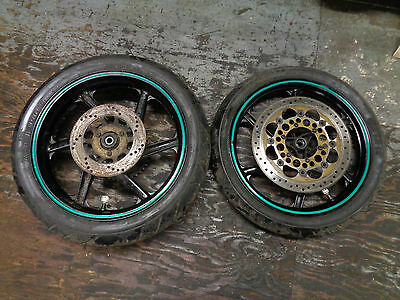 """2002 Honda Nsr125 - Front & Rear 17"""" Wheels With Tyres - Pair"""
