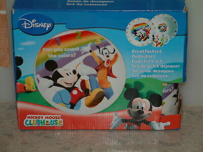 Disney, Mickey Mouse Clubhouse, 3 Piece Breakfast/Dinner Set.