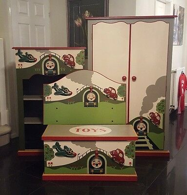 Planes Trains and Automobiles Theme Children's Bedroom Furniture set